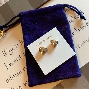 Tory Burch Trilliant Stud Earrings in Gold.